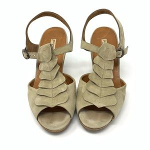 Paul Green Tan Suede Sandals with Heels US size 8